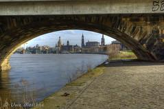Stürmischer Frühling in Dresden (binax25) Tags: dresden elbflorenz spring fühling sturm clouds wolken hdr elbe river fluss marienbrücke frauenkirche hofkirche schloss