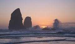 Waves a Crashing (markcoleman8) Tags: pacificocean pacificnorthwest oregoncoast oregon ocean water waves searocks sunset sony sonya6500