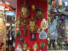 Nepali Shop in Darjeeling (freelance.travels) Tags: darjeeling nepali shop antique mask khupri bell