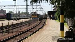 1845 Tópart EX bemondása és indulása Nagykanizsáról (Péter Vida) Tags: máv tópartex railroad train electric locomotive gyorsvonat v43 railway station