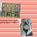 Worcester Massachusetts  - Worcester Five Cents Saving Bank  Building - Street Clock - Vintage Photo