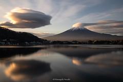 富士山 Mt.Fuji (Masayuki Nozaki) Tags: fuji fujiyama fujisan landscape mountain sky clouds lake reflection autumn japan sony 富士山