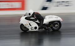 White Busa_3752 (Fast an' Bulbous) Tags: suzuki hayabusa turbo fast speed power acceleration drag strip race track moto motorcycle motorsport nikon panning outdoor bike biker santa pod
