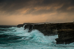 yesnaby hogmanay (ingrid_b21) Tags: weather sea orkney cliffs yesnaby fuji xe1