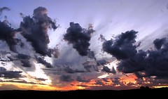 All in a row (WinRuWorld) Tags: sunset clouds sky outdoors meteorology weather australia nsw newsouthwales allinarow