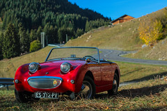 Twisty roads (NaPCo74) Tags: explored explore austin healey sprite frog bug frogeye eye eyes bugeye bugeyes frogeyes british britain english england mountain alps alpes red rouge roadster autumn automne bmc motor corporation canon eos 700d