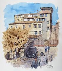 Casas en Cuenca (P.Barahona) Tags: arquitectura casas calle coche gente urbano ciudad árbol