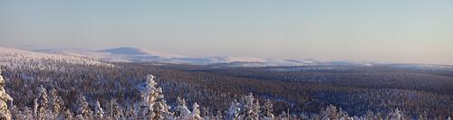 Evening panoramic view of Kilopää