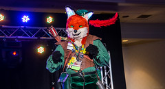 DSC09131 (Kory / Leo Nardo) Tags: pacanthro pawcon paw con pac anthro convention fur furry fursuit suiting mascot sona fursona san jose doubletree hotel california dance party deck animals costuming pupleo 2018