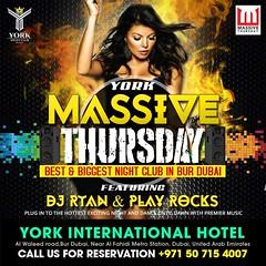 Masive thursday - York Club Dubai (yorkclubdubai.com) Tags: pubs nightclubs dubai affordable bars cheap best biggest nightclub bur nasty monday party