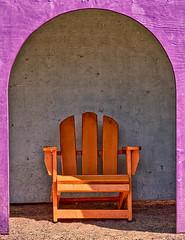 20150328_cornerstone_010 (petamini_pix) Tags: sonomacounty cornerstone art colorful chair hdr arch