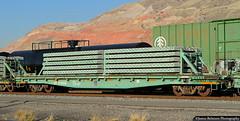 Tie Shipment (jamesbelmont) Tags: railroad railway train flatcar saltlakecity concreteties ties unionpacific northyard