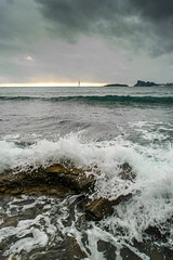vue sur l'île verte et le Mugel (Mireille Muggianu) Tags: bouchesdurhone europe france laciotat provencealpescotedazur mer paysage vague wave ileverte lemugel samsung nx nx500