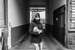 unsuspected (99streetstylez) Tags: unsuspected protagonist candid people street streetphotography 99streetstylez fuji fujix100f 35mm germany metropole city monochrome