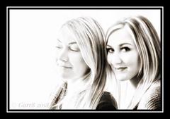 💕 Sisters 💕 (Garr8) Tags: daughters garr8 hikey portrait family sisters johngarrett blackandwhite portraiture monochrome faces girls women siblings