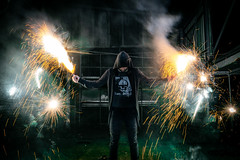 Fireworks (Ruffyruffneck) Tags: firework night people creative creepy illuminated dark horror