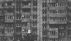 Urban moments (Pan.Ioan) Tags: architecture buildings blocks apartments windows frames city cityscape citylife monochrome blackandwhite outdoors structure