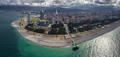Batumi Aerial Panorama (free3yourmind) Tags: batumi georgia adjara aerial panorama sea turquoise color blacksea city cityscape view above drone quadcopter xiaomi mi clouds cloudy dramatic sky