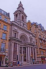 Mayfair Church (Geoff Henson) Tags: church sect cult building architecture pillars mayfair london street road tower steps