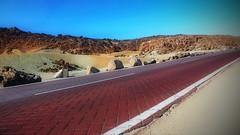 The Red Road (endresárvári) Tags: tenerife teide elteide nationalpark road red stone rock rocks desert teidenationalpark spain canaryislands island canon