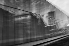 Reflection - 65/100 X (mfhiatt) Tags: dscf23441118jpg blur urbanblur blackandwhite desmoines iowa fujix100f reflection skyline 100xthe2018edition 100x2018 image65100 icm intentionalcameramovement oof outoffocus