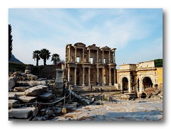 The Library of Celsus, Ephesus, HFF. (natureflower photography) Tags: library celcus ephesus selçuk roman building anatolia turkey facade empire marble mausoleum sarcophagus thirdlargest ancient world heritage list unesco