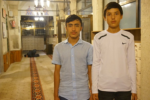 Two Uyghur boys in Istanbul who believe their families are in re-education camps in Xinjiang, China.