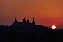 Red sunset (evakatharina12) Tags: sunset sundown sun silhouette outline twilight red sky würzburg evening fortress marienburg bavaria germany franconia
