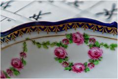 Macro Mondays: Hobby (Janos Kertesz) Tags: porcelain meissner art design plate background blue pattern decoration dish flower floral white macromondays hobby collect collection