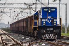 HZ 2062 026, Velika Gorica (josip_petrlic) Tags: hž hrvatske željeznice croatian railways railway railroad ferrovia eisenbahn željeznica železnice emd gm g26c turner licanka diesel locomotive lokomotiva lokomotive locomotora teretni vlak freight train dellok hz 2062