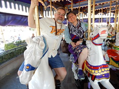 "Tracey and Scott on King Arthur Carousel • <a style=""font-size:0.8em;"" href=""http://www.flickr.com/photos/28558260@N04/46047242581/"" target=""_blank"">View on Flickr</a>"