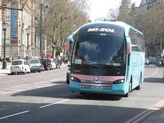 2996 JDG, Cromwell Gardens, London, 14/04/18 (aecregent) Tags: londonbuses2018 cromwellgardens london 140418 misol volvo b11r sunsundegui sc7 2996jdg