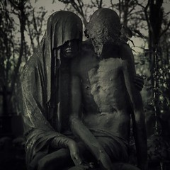Distance 112 Present Times XII (Mirek-Szymanski) Tags: sculpture escultura christianity future blackandwhite monochrome reflection times arte artlovers