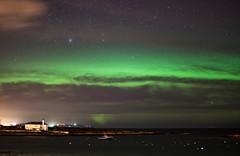 It's Back - Aurora at Groomsport (Eskling) Tags: aurora borealis northern lights groomsport ireland codown starsnight green sea deneb