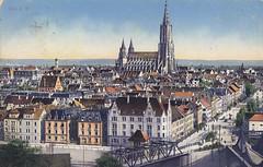 Postkarte / Deutschland (micky the pixel) Tags: postkarte postcard ephemera vintage deutschland germany ulm münster fluss river donau badenwürttemberg