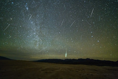 Geminid Meteor Shower 2018 (Jeff Sullivan (www.JeffSullivanPhotography.com)) Tags: death valley national park geminid meteor shower astrophotography astronomy nationalpark california usa eastern sierra landscape nature travel night photography nikon d850 photo copyright 2018 jeff sullivan december composite starstax