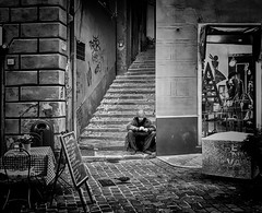 """Steps"" (giannipaoloziliani) Tags: hdr photooftheday streetphotography streetlife flickr liguria lightandshadow downtown vicolidigenova alleys alleysofgenoa vicoli monocromatico monochrome italy italia biancoenero blackandwhite nikonphotography nikoncamera nikon caruggi genoa genova steps capture capturestreets"