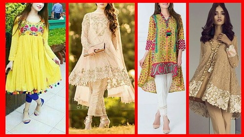 98ae4424a87f7 Casual Short Frock For Girls // Latest Frocks Designs For Girls 2018 2019
