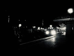 Watching the Detectives (sjpowermac) Tags: watchingthedetectives filmnoir 0b70 reliance 68020 dark headlight pavingslabs light bright driver training transpennine class68 nova3 face iphone photography platform cold waiting observing