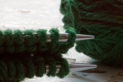 Hobby - Macro Mondays (kinaaction) Tags: hobby macromondays macro green yarn knitting