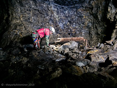 Winder (theyorkshireminer) Tags: exploration mines old disused abandoned nenthead smallcleugh rampgill single rope technique north england industrial heritage lead silver york caving club 2019