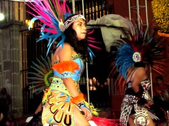 El Jardin Square (thomasgorman1) Tags: azrec mx mexico canon woman girl traditional performance street colors streetshots streetphotos cultural historical music dance feathers warrior