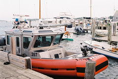 (Doug J.) Tags: boat boats sea ocean water shore coast island film canon eos rebelg 500n 40mm f28 agfa vista 200 marthas vineyard coastguard marina