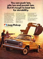 1982 Jeep Pickup American Motors AMC USA Original Magazine Advertisement (Darren Marlow) Tags: 1 2 8 9 19 82 1982 a american m motors amc j jeep p pickup c car cool collectible collectors classic automobile v vehicle u s us usa united states america 80s