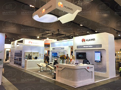 HUAWEI Stand ('we bring brands to life') Tags: illuminated circular bespoke reframe exhibition backlitpoly afibranding