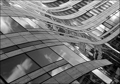 Waves of glass (Logris) Tags: köbogen city stadt archtecture architektur libeskind bw sw glas gass windows window fenster düsseldorf dus dusseldorf