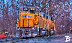 2/2 UP 818(GP38-2) and 793(GP38-2) (KansasScanner) Tags: iowafalls iowa up train railroad sunset sunrise