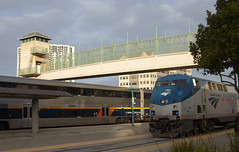 Busy Morning in E'ville (imartin92) Tags: emeryville california amtrak passenger train capitolcorridor railroad railway emd f59phi locomotive coaststarlight ge generalelectric p42dc genesis