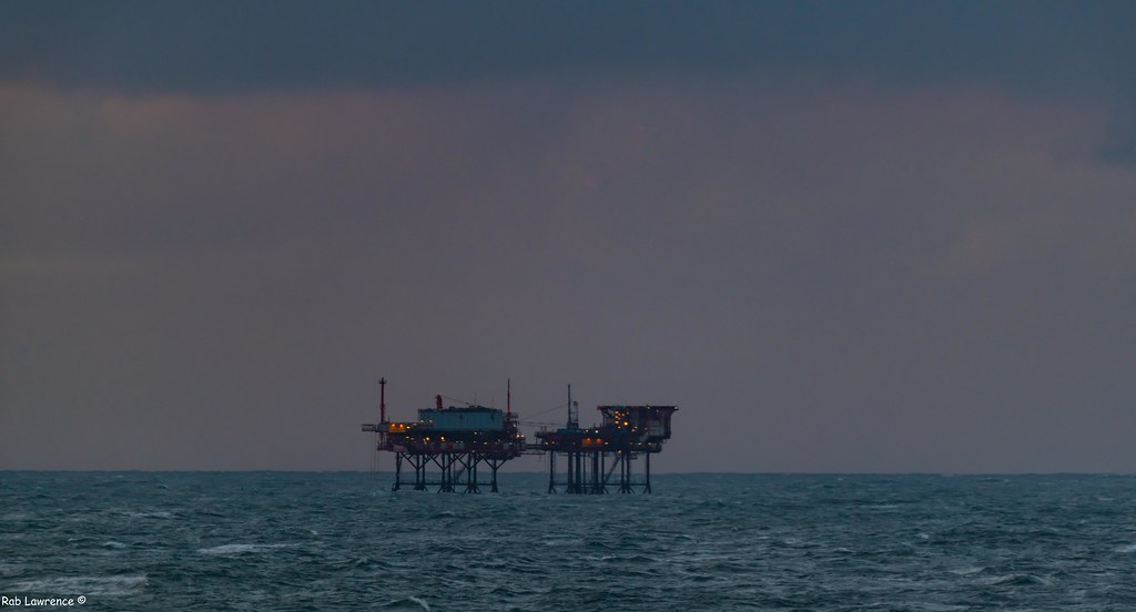 Some Oil Well Platforms of the Coast of Great Yarmouth ..
