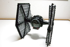 (Improved) First Order TIE Fighter: Front-Left View (Evrant) Tags: lego star wars tie fighter first order moc custom starship spaceship ship starfighter evrant